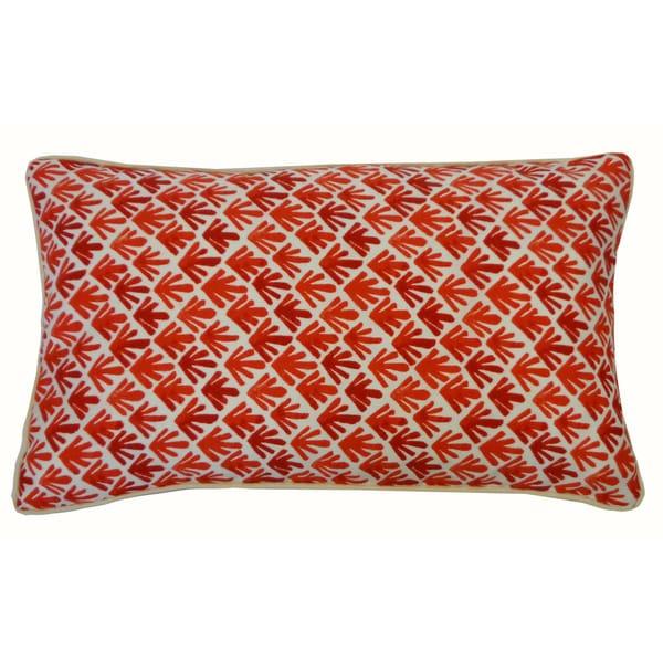 "Handmade Yucca Red Throw Pillow - 12"" x 20"""