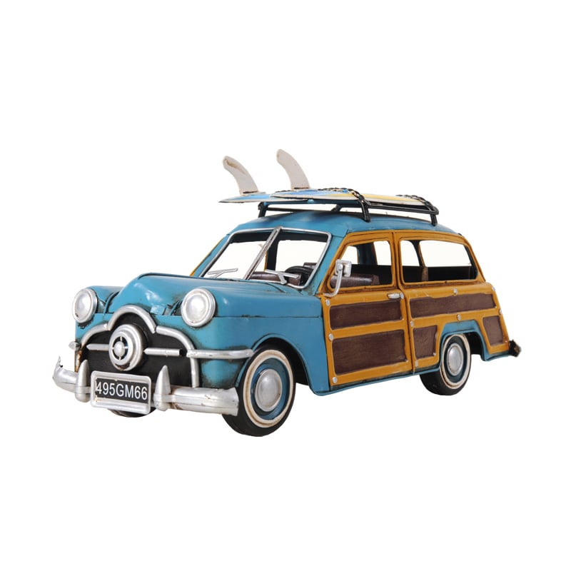 Old Modern Handicrafts 1949 Green Ford Wagon Car and Surf...