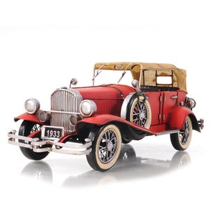 1933 Red Duesenberg J 1:12 Scale Model