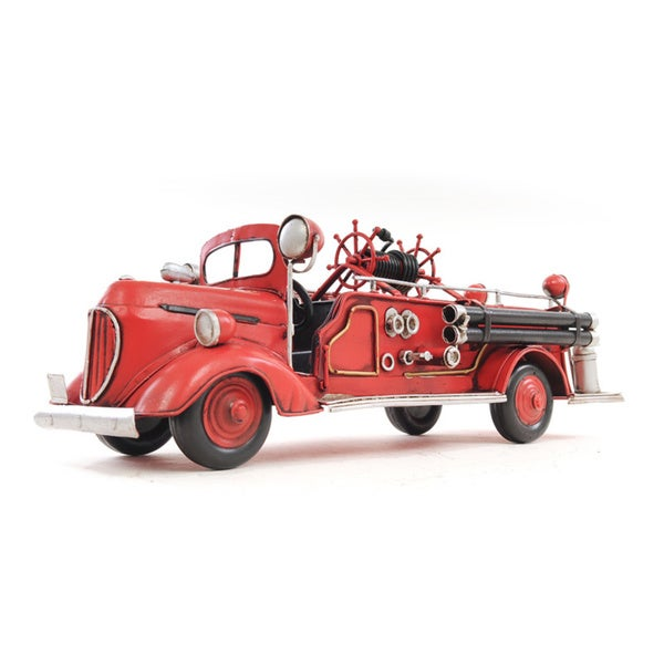1938 Red Fire Engine Ford 1:40 Scale Model Truck