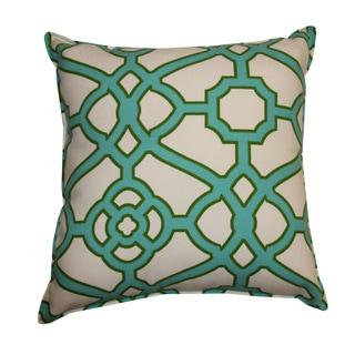 Octagon Jade Throw Pillow