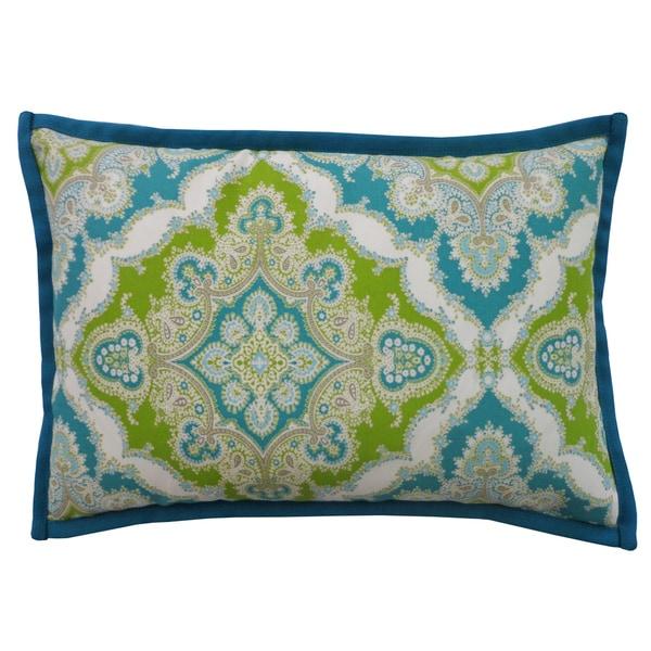 Handmade Zoso Turquoise Throw Pillow