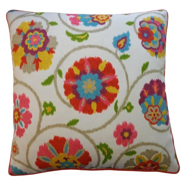 Handmade Fade Tangerine Throw Pillow