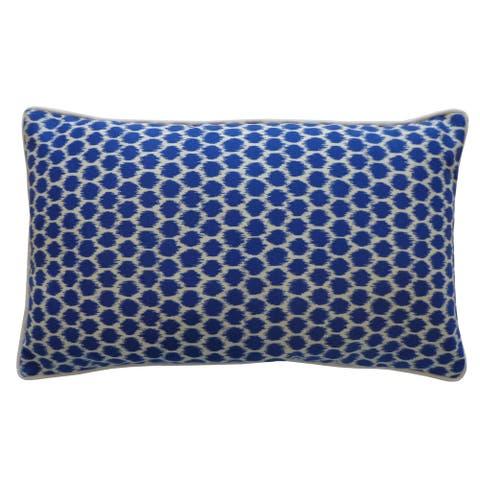 Handmade Splotch Blue Pillow