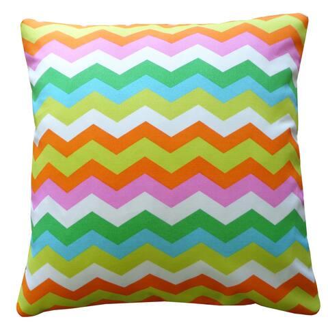 Jiti Multi-Color Chuchi Chevron Transitional Sunbrella Outdoor Pillow - 20 x 20