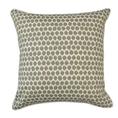 Jiti Taupe Transitional Dot Sunbrella Outdoor Pillow - 20 x 20