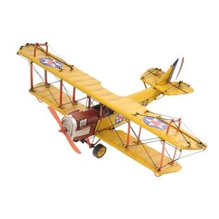 1918 Yellow Curtiss JN-4 1:24 Scale Model Biplane
