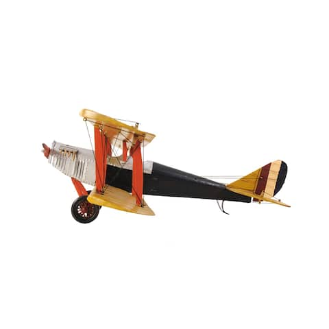 Yellow Curtis Jenny Plane 1:18 Scale Model