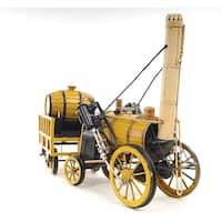 1829 Yellow Stephenson Rocket Steam Locomotive Model