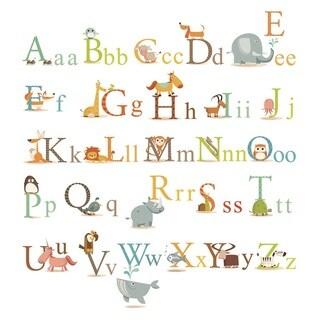 Peel & Stick Classic Animals Alphabet Wall Decal