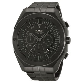 Pulsar Men's PT3521 Black Ion Chronograph Watch