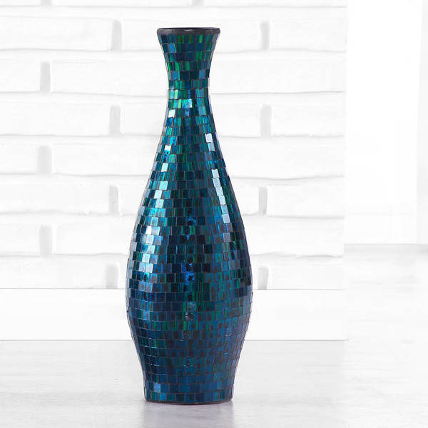 Shop Turquoise Mosaic Flower Vase Handmade In Indonesia Free