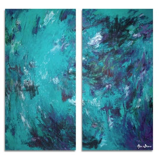 Ready2HangArt 'Bueno Exchange LXVIIB' Canvas Diptych Art Print