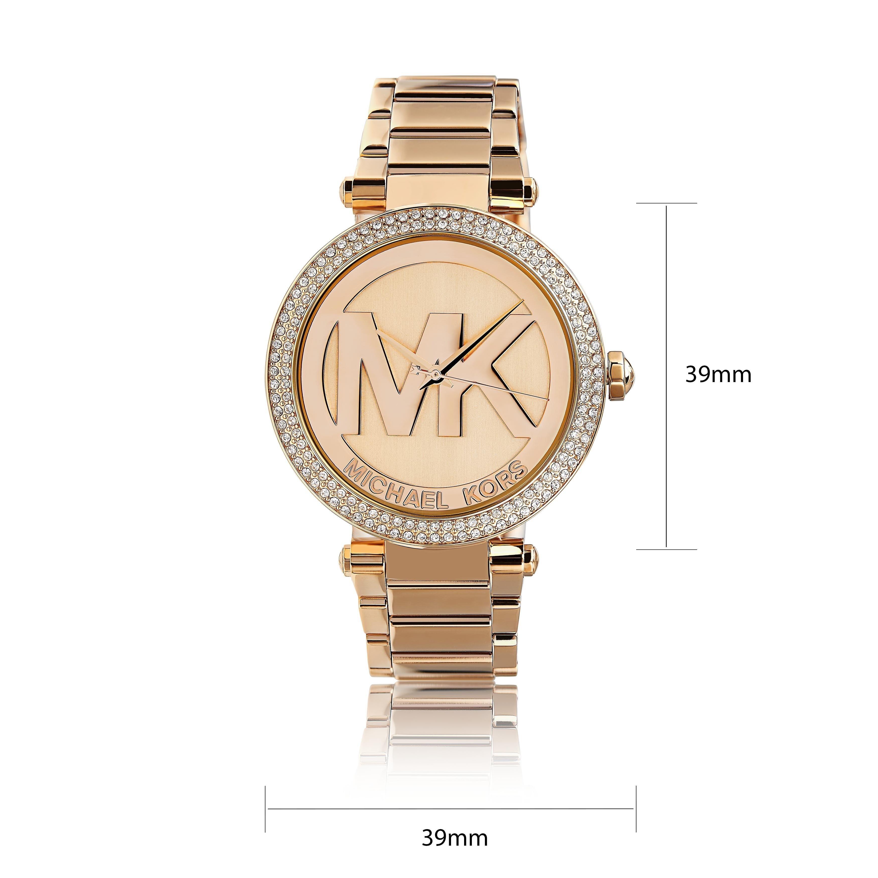 Michael Kors Women's MK5865 'Parker' Logo Dial Rosetone Watch