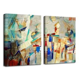 Ready2HangArt 'Bueno Exchange XXV' Canvas Diptych Art Print