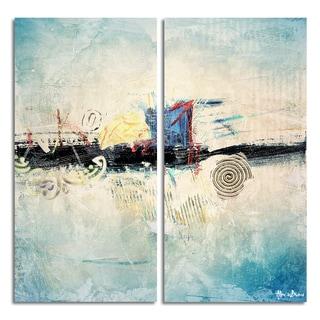 Ready2HangArt 'Bueno Exchange XXXIV' Canvas Diptych Art Print