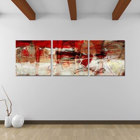 Ready2HangArt 'Bueno Exchange XL' 3-Pc Abstract Canvas Art Set
