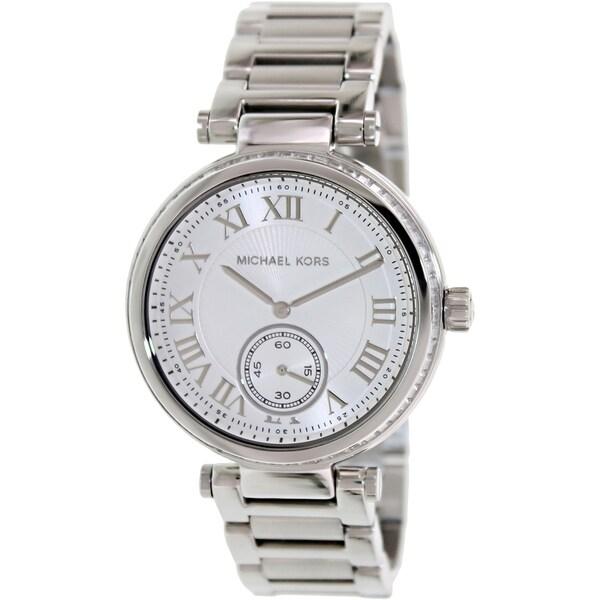 Michael Kors Women's MK5866 Skylar Silvertone Watch - Silver. Opens flyout.