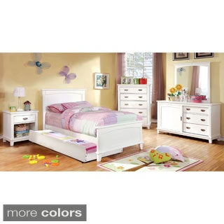 Furniture of America Kennedy 4-piece Platform Youth Bedroom Set