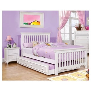 Furniture Of America Terry 2 Piece Country Style Platform Bed With Nightstand Set