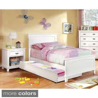 Furniture of America Kennedy 2-piece Platform Youth Bed with Nightstand Set