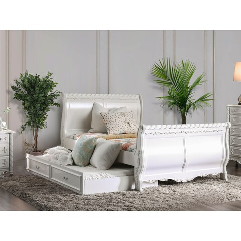 Furniture of America Mystical Reign Pearl White 2-piece Bedroom Set