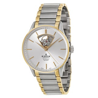Edox Men's 'Les Vauberts Automatic' Stainless Steel Swiss Mechanical Automatic Watch