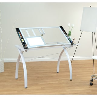 Studio Designs Futura Drafting and Hobby Craft Station Table with Folding Shelf