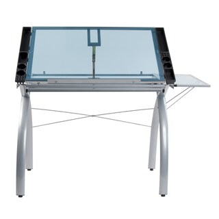 Studio Designs Futura Steel Drafting and Hobby Craft Station Table with Folding Shelf