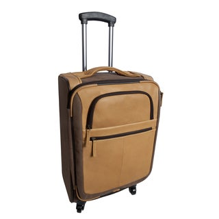Sandstone Collection 22-inch Leather Carry On Upright