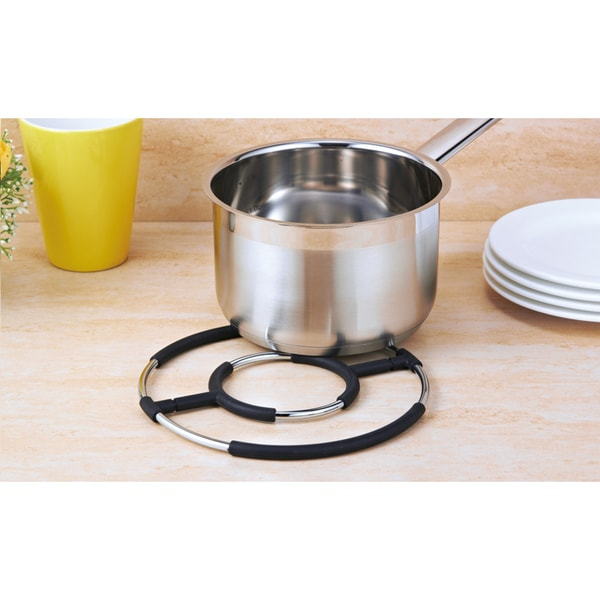 Round Chrome Metal Wire Trivet. Opens flyout.