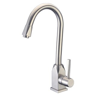 Cadell 70100 Brushed Stainless Steel Single Handle Kitchen Faucet