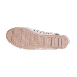 Women's Perforated Open-heel Flats