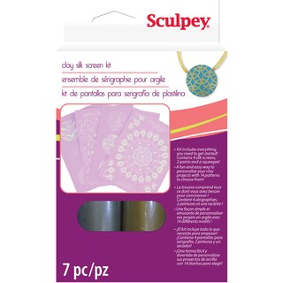 Sculpey Silkscreen Kit-Metallic