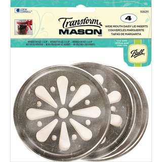 Transform Mason Ball Lid Inserts 4/Pkg-Daisy Wide Mouth