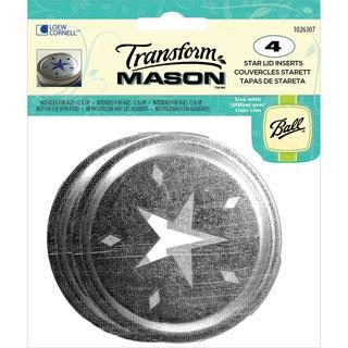 Transform Mason Ball Lid Inserts 4/Pkg-Star