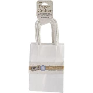 Value Pack Paper Bags 4.72inX6.70inX1.97in 10/Pkg-White