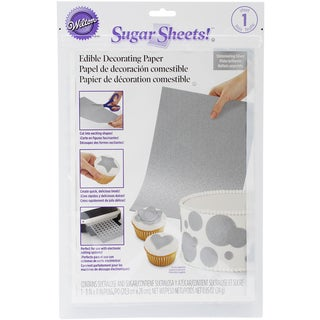Sugar Sheet 8inX11in 1/Pkg-Silver Shimmer