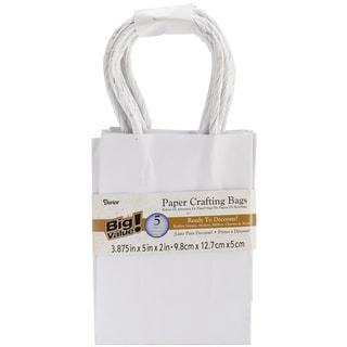 Paper Bags 2inX3.875inX5.125in 5/Pkg-White