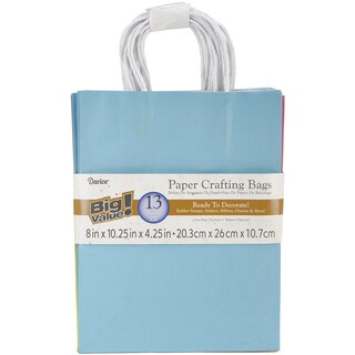 Paper Bags 4.25inX8inX10.25in 13/Pkg-Assorted Fashion