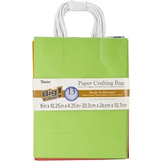Paper Bags 4.25inX8inX10.25in 13/Pkg-Assorted Primary