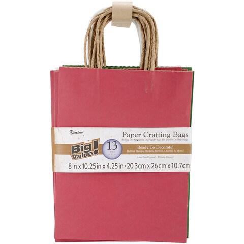 Paper Bags 4.25inX8inX10.25in 13/Pkg-Christmas Assorted