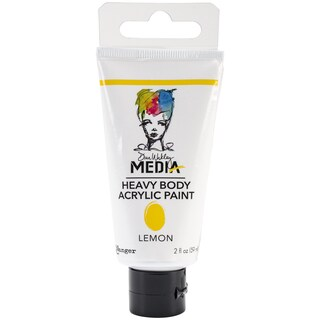 Dina Wakley Media Heavy Body 2oz Acrylic Paints-Lemon