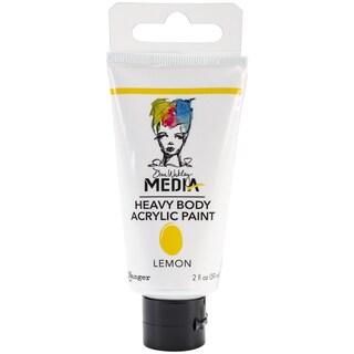 Dina Wakley Media Heavy Body 2oz Acrylic Paints-Lemon