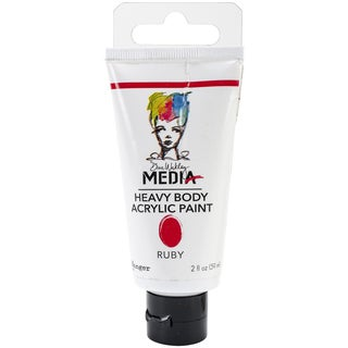 Dina Wakley Media Heavy Body 2oz Acrylic Paints-Ruby