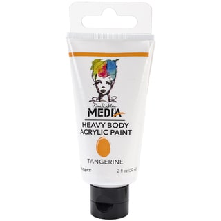 Dina Wakley Media Heavy Body 2oz Acrylic Paints-Tangerine