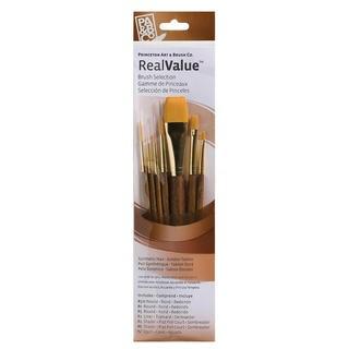 Real Value Brush Set Synthetic White Taklon-Round 1,4, Shader 6, Wash 5/8,1