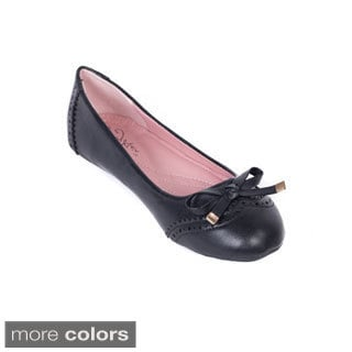 Women's Bow-topped Ballet Flats