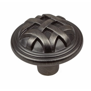 GlideRite 1.25-inch Satin Pewter Round Braided Cabinet Knobs (Pack of 10)