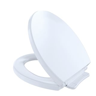 Toto SoftClose Non Slamming, Slow Close Round Toilet Seat and Lid,Cotton White (SS113#01)